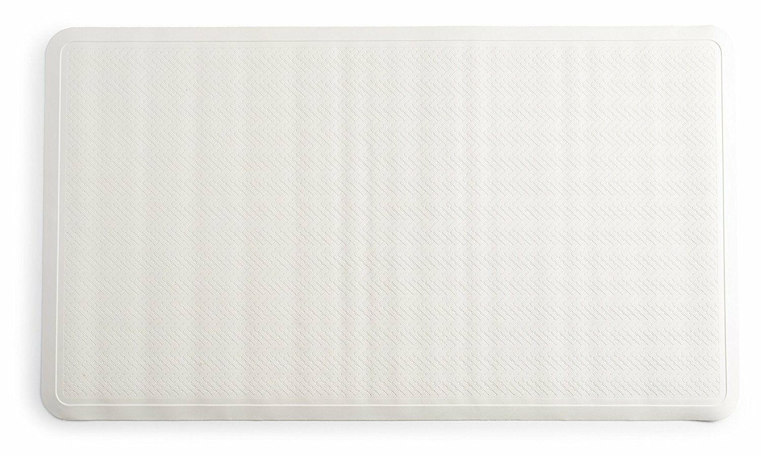 "Anti Slip Long Natural Rubber Bath Tub Mat Anti Bacterial 16"" X 28"" - White"