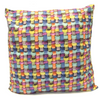 "Basket Weave Cushion Square Decorative Throw Pillow Large 20"" x 20"" - Colorful"