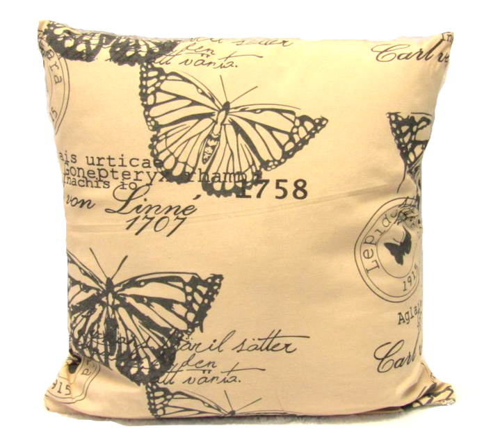 Butterfly Cushion Square Decorative Throw Pillow