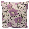 "Floral Cushion Square Decorative Throw Pillow Large 20"" x 20"" - Lavender"