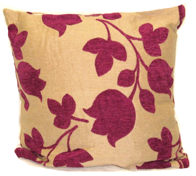"Flower Cushion Square Decorative Throw Pillow Large 20"" x 20"" - Purple"