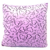 Love Cushion Solid Square Soft Hearts Throw Pillow - Lilac