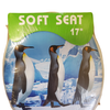 "Soft Standard Round Cushioned 17"" Toilet Seat - Penguin"