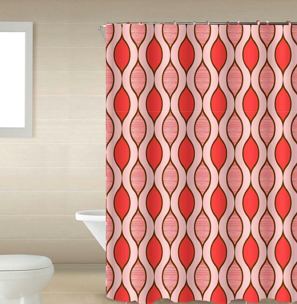 Scarlet 13-Piece Bath Shower Curtain & Rings Set - Red