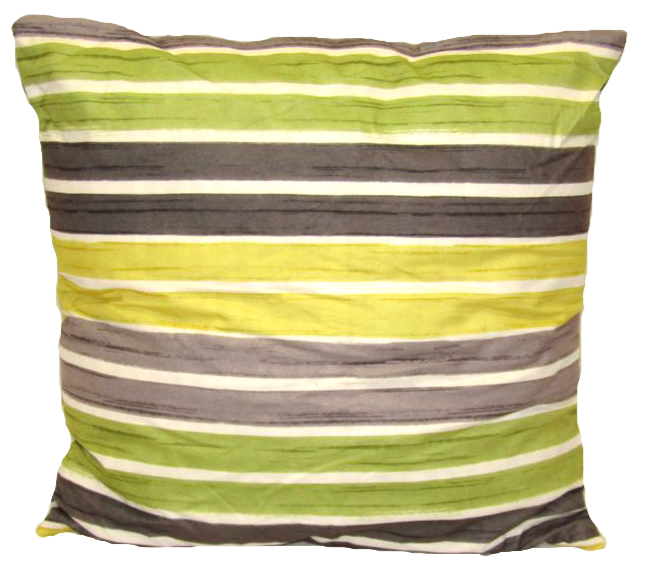 "Striped Cushion Square Decorative Throw Pillow Large 20"" x 20"" - Green"