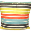 "Striped Cushion Square Decorative Throw Pillow Large 20"" x 20"" - Orange"