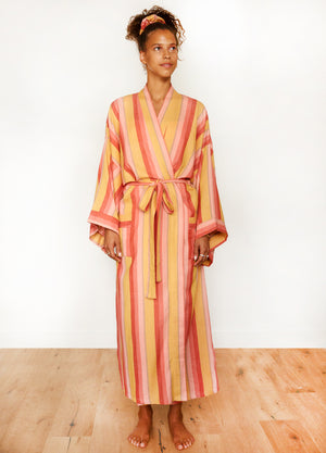 STRIPE ROBE IN HUSH