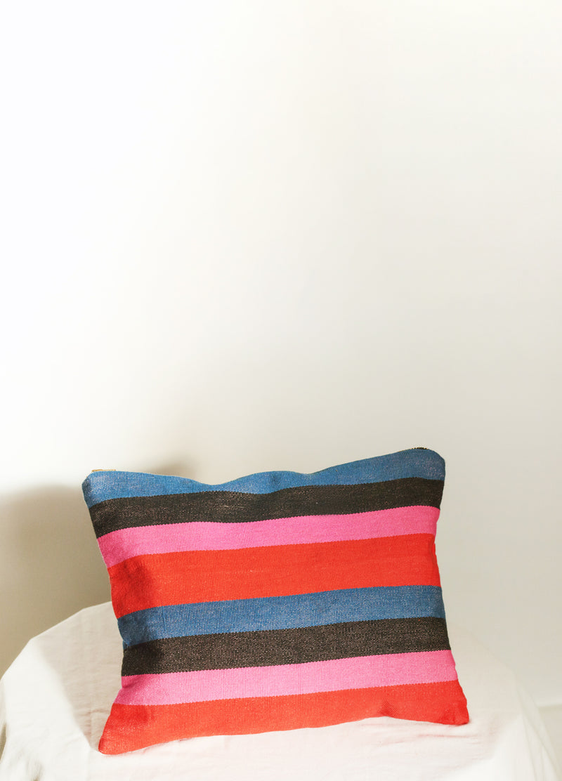 BIG STRIPE BAG IN DAZE Colorful Large Travel Bag Make-Up Toiletries Stripes Black Indigo Red Pink