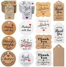 Load image into Gallery viewer, 300Pcs/pack Kraft  Gift Tags with Us labels handmade - make-stickers