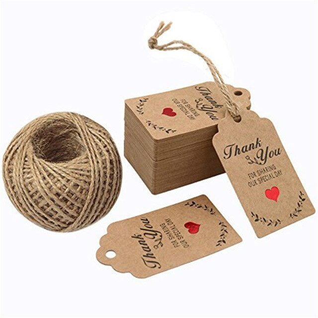300Pcs/pack Kraft  Gift Tags with Us labels handmade - make-stickers