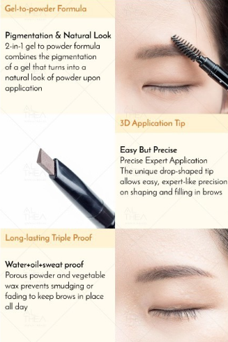 A'BLOOM Brow Wow Eyebrow Pencil All Day Triple-proof Formula (3 Types)