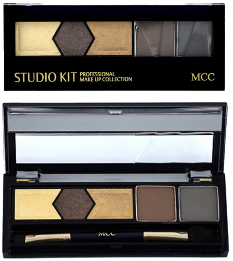 MCC Studio Kit Eyeshadow  (4 Types) ( Built-in Mirror And Soft Brush )