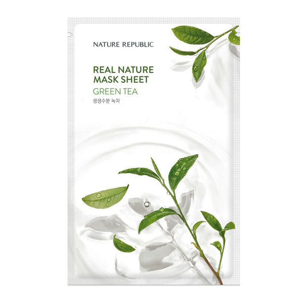 [NATURE REPUBLIC] REAL NATURE GREEN TEA MASK
