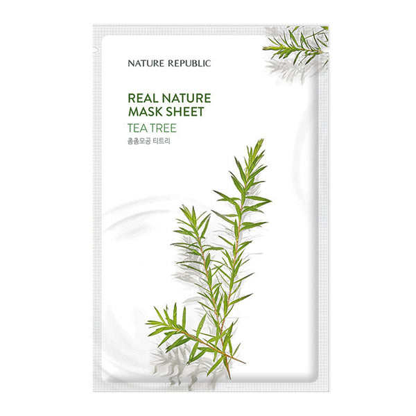 [NATURE REPUBLIC] REAL NATURE TEA TREE MASK