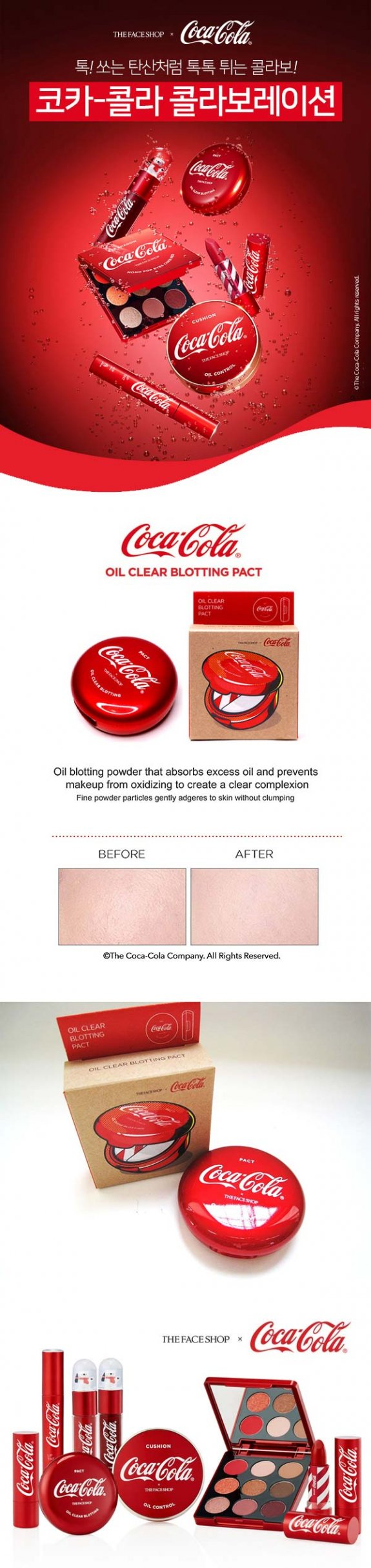 [THE FACE SHOP X COCA COLA] OIL CLEAR BLOTTING PACT