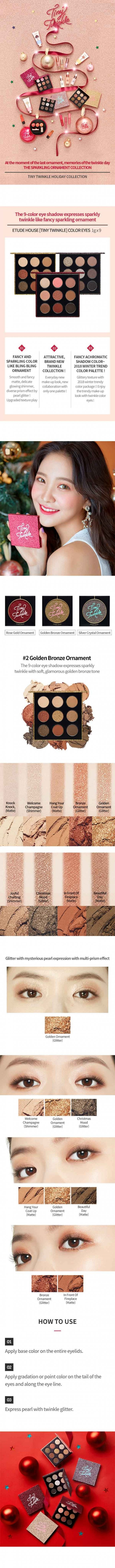 ETUDE HOUSE TINY TWINKLE COLOUR EYES #GOLDEN BRONZE ORNAMENT