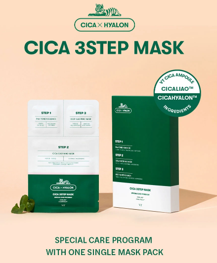 VT Cica 3 Step Mask (6pcs)