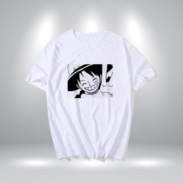 T-Shirt Monkey D. Luffy Blanc - One piece - Dimension Manga