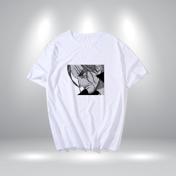 T-Shirts Shanks Blanc - One piece - Dimension Manga
