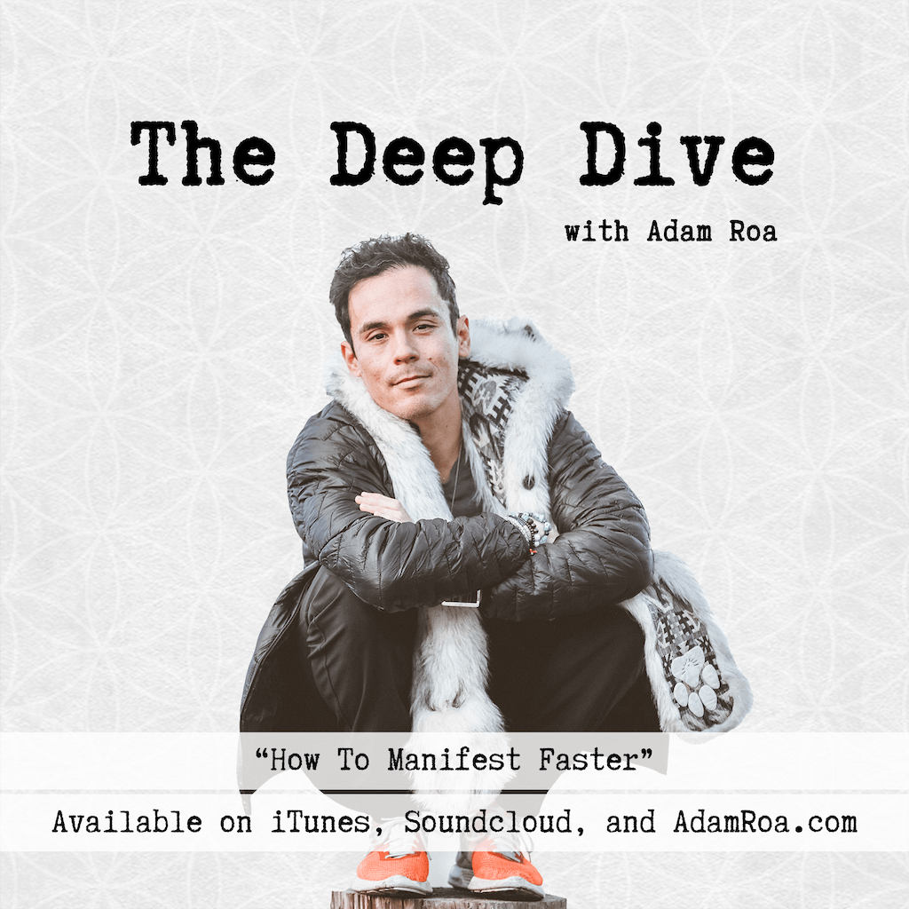 The Deep Dive Podcast  with Adam Roa - Deep Dive Musings - How To Manifest Faster - adamroa.com