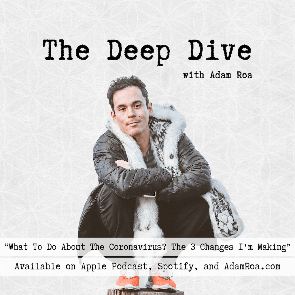 The Deep Dive Podcast with Adam Roa - Deep Dive Musings - What To Do About The Coronavirus? The 3 Changes I'm Making