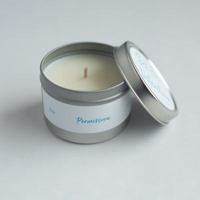 "PERMISSION ""Set An Intention"" Candle"