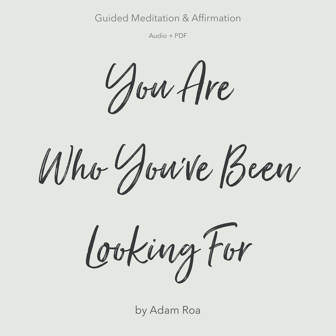 You Are Who You've Been Looking For - Guided Meditation (Audio + PDF)