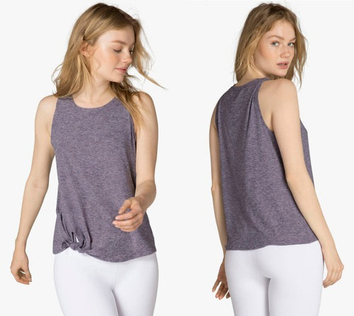 BEYOND YOGA ALL FOR TIES TANK - DEEP AMETHYST