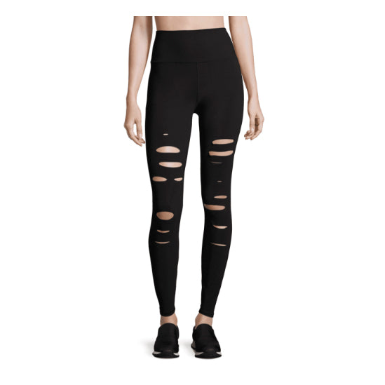 ALO RIPPED WARRIOR LEGGINGS - BLACK