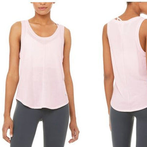 ALO NEW MOON TANK - SOFT PINK