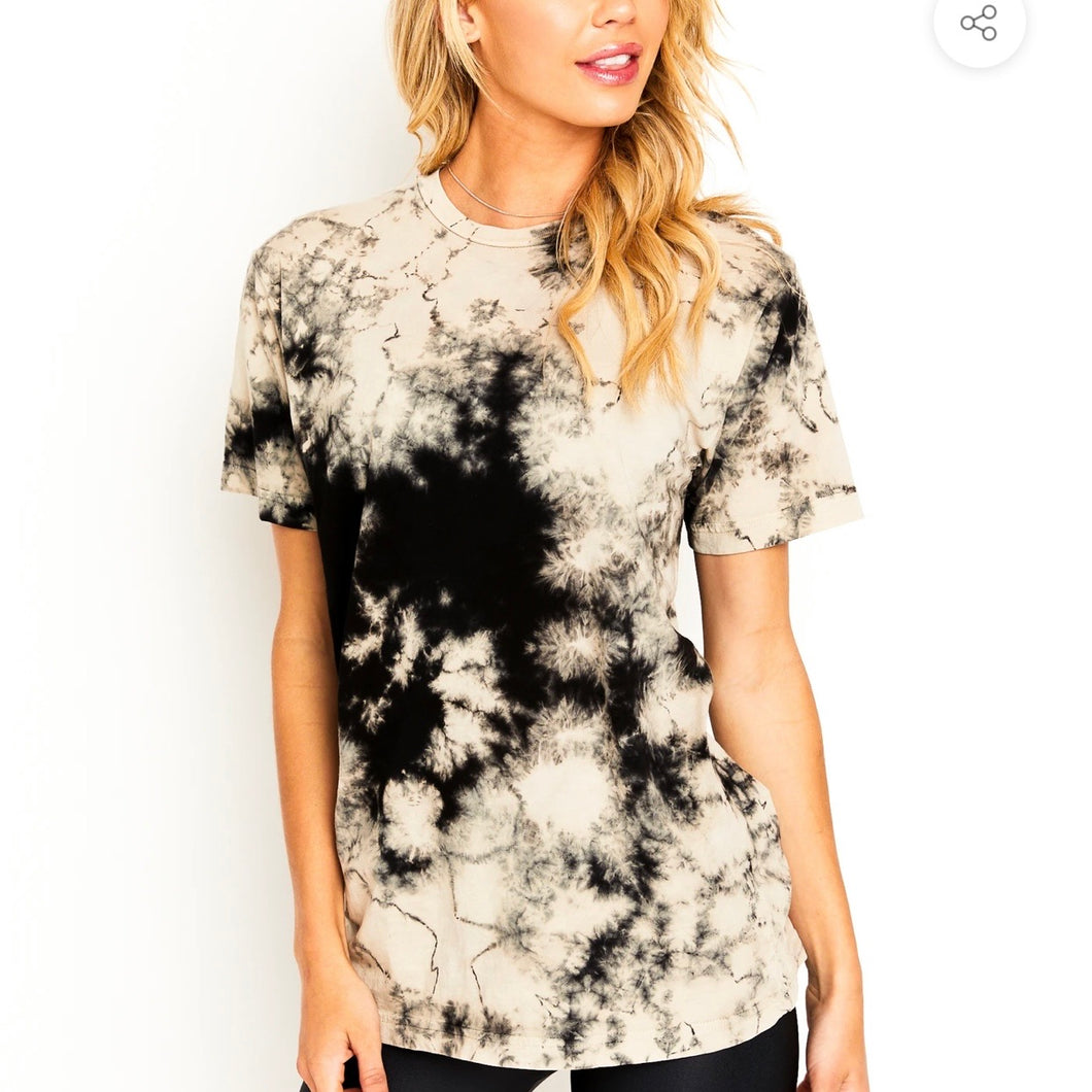GOLDSHEEP TIE DYE TEE - BLACK