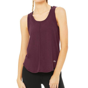 ALO NEW MOON TANK - PLUM