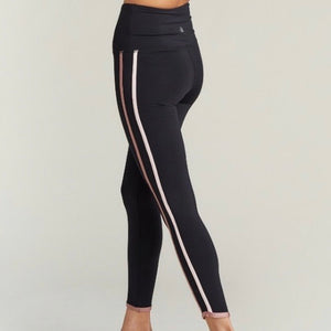 STRUT THIS HAVANA LEGGING- BLACK/ROSE STRIPE