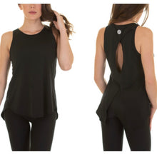 Load image into Gallery viewer, CORE PURE BARRE OPEN BACK TANK- BLACK