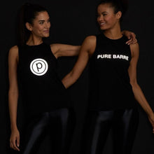 Load image into Gallery viewer, NOLI X PURE BARRE REFLECTIVE TANK - BLACK