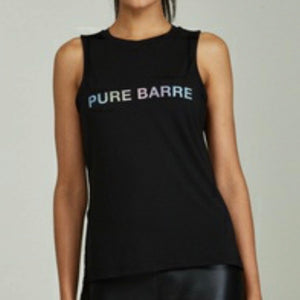 NOLI X PURE BARRE REFLECTIVE TANK - BLACK