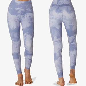 BEYOND YOGA OLYMPUS HIGH WAIST MIDI LEGGING- BLUE SMOKE