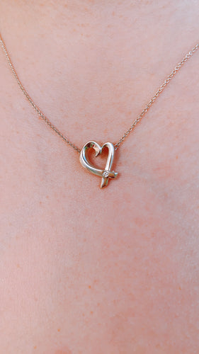 Tiffany Loving Heart Necklace With Diamond