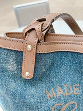 Load image into Gallery viewer, Denim & Tan Leather Gucci Bag