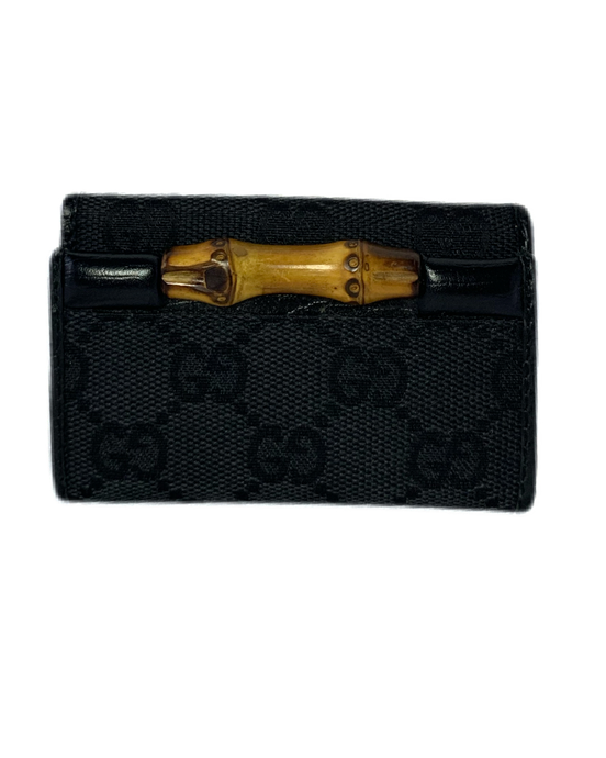 Black Gucci Bamboo Key Case