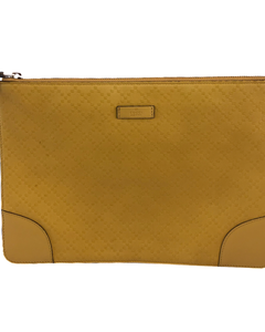 Gucci Yellow Clutch Wallet