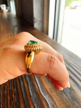 Load image into Gallery viewer, Pear Shape Emerald Ring w/ Double Diamond Halo