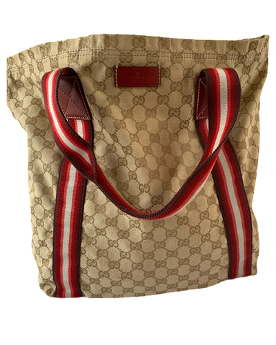 Large Gucci Sherry Line Tote Bag