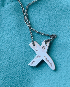 Tiffany Graffiti X Pendant Necklace