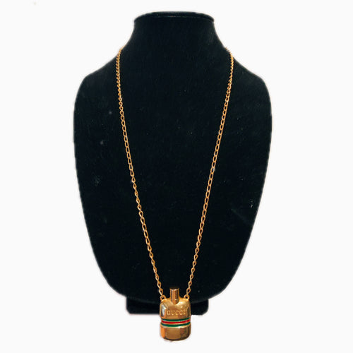 Gold Gucci Perfume Necklace