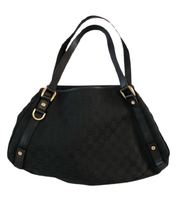 Load image into Gallery viewer, Black Cotton Canvas Gucci Bag