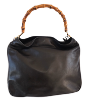 Load image into Gallery viewer, Vintage Leather & Bamboo Gucci Tote