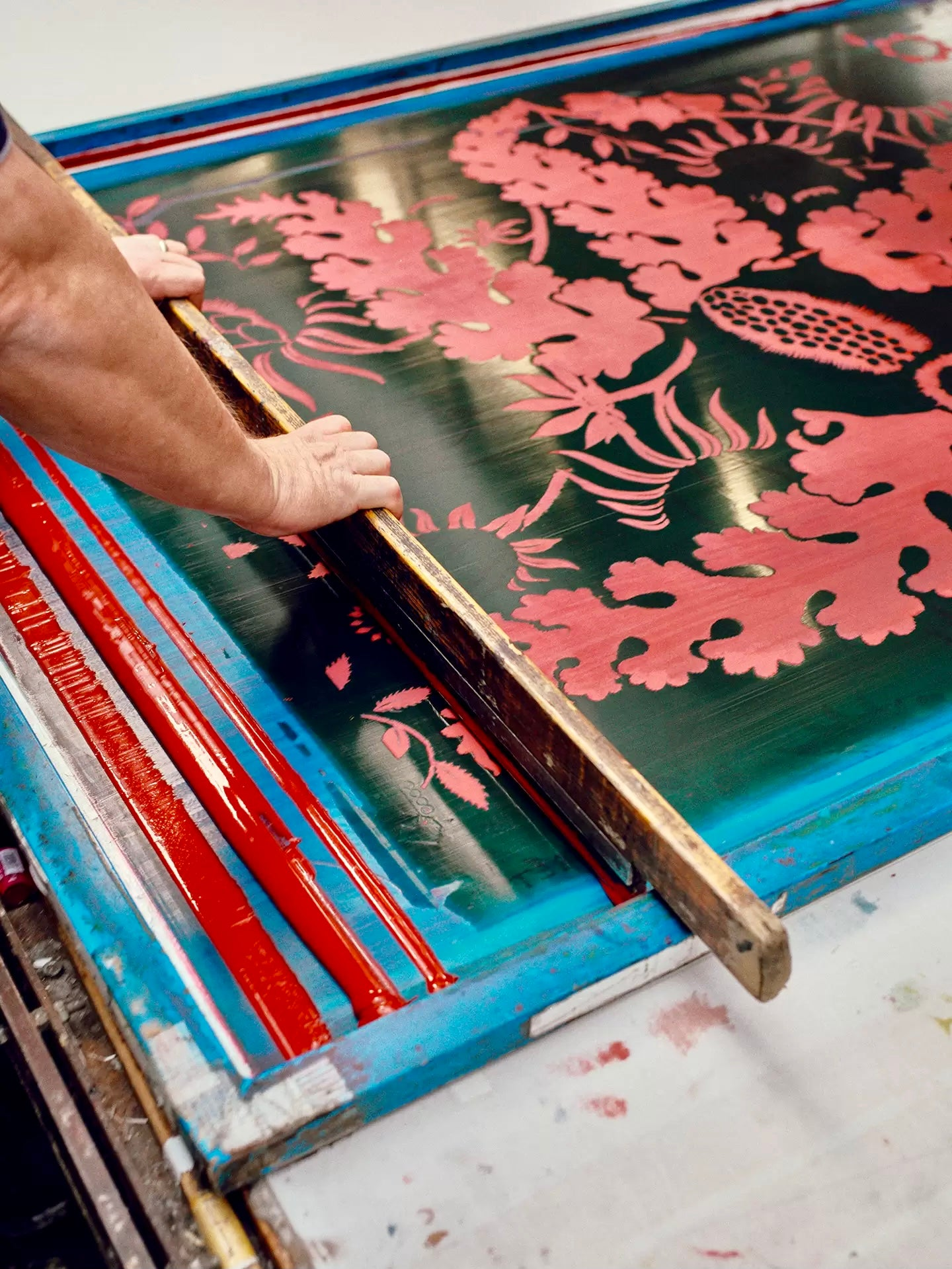 Christopher Farr Cloth screen printing process