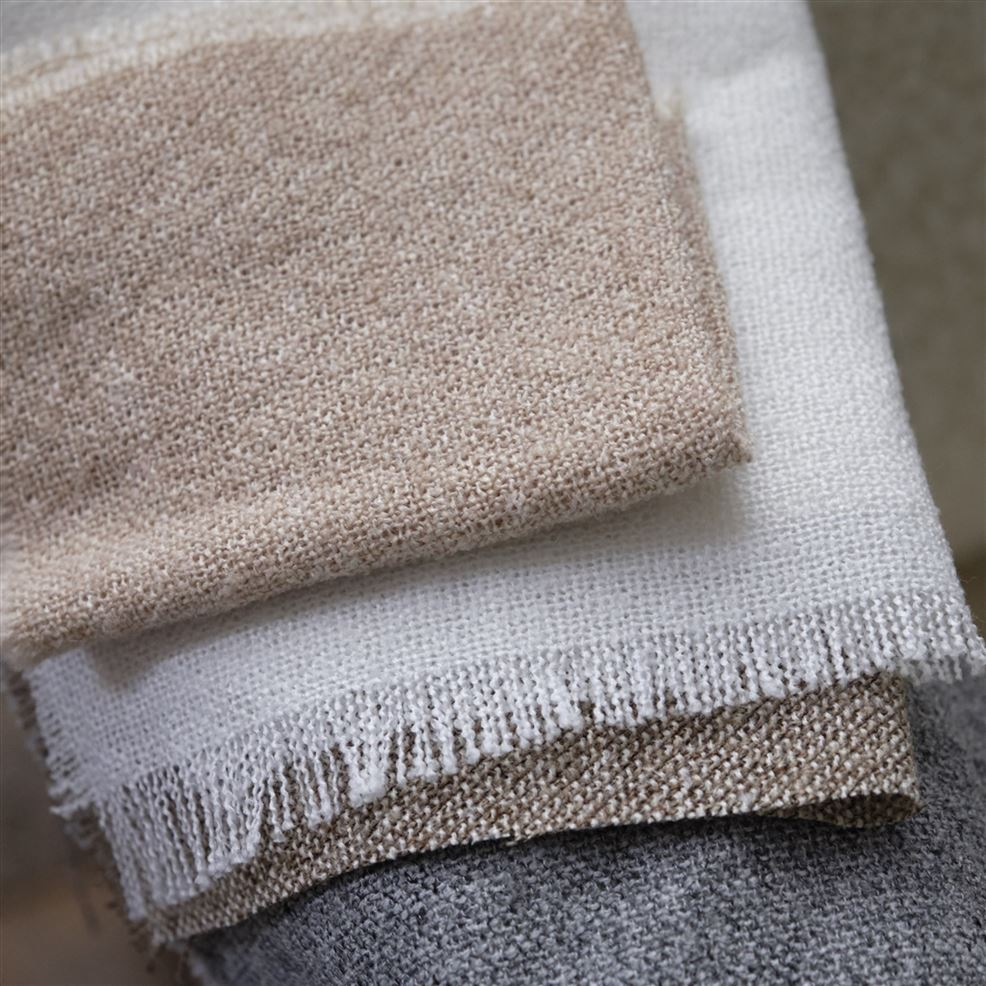 Close up of Designers Guild Charollais brushed wool blend fabrics for soft furnishings