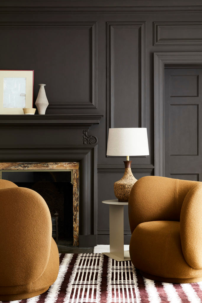 solo dark paint colour on walls and ceiling